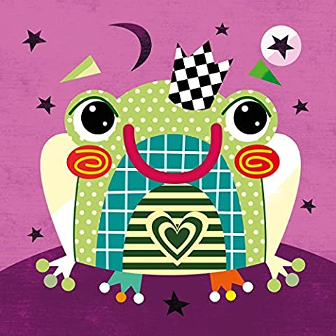 Witty Doodle - Fairytale Frog - Wall Art Canvas - Baby Nursery Decoration by Anna Gensler - (40 x 40 x 3