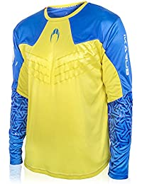 Ho soccer Ikarus Camiseta de Portero Manga Larga, Hombre, Lima/Azul, S