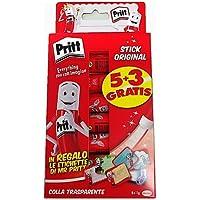 Pritt Colla Stick 8 x 11g, colla per bambini sicura e affidabile, colla Pritt per lavoretti e fai da te, con una tenuta…