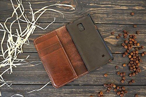 Samsung Galaxy jede Modell Lederabdeckung in Whisky braun Farbe. Handgefertigte hochwertige haltbare Lederabdeckung für jedes Samsung-Telefonmodell -
