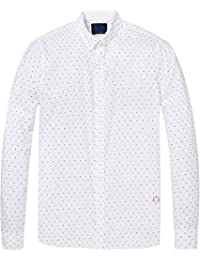 Scotch   Soda AMS Slim Fit Simple Lightweight Printed, Chemise Casual Homme c583f487c809