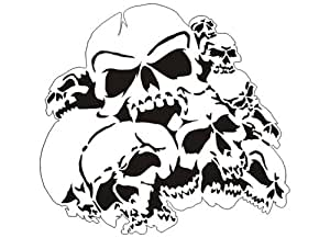 Pochoir Aérographe de crâne/skull B010