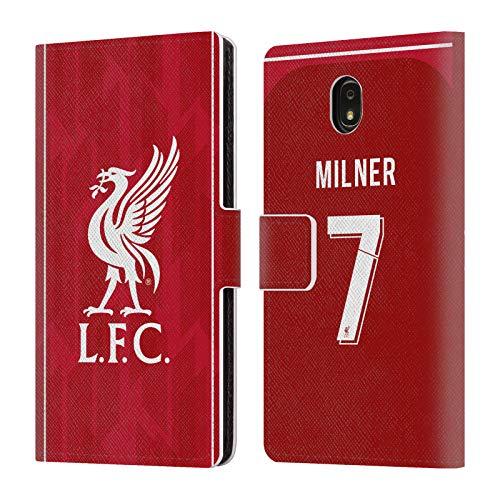 Head Case Designs Offizielle Liverpool Football Club James Milner 2018/19 Spieler Home Kit Gruppe 1 Brieftasche Handyhülle aus PU Leder für Samsung Galaxy J7 (2018) -