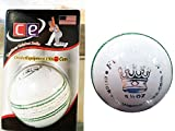 #3: QUINERGYS T20 Cutter White Leather Cricket Ball Swing Professional Grade