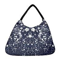 Snoogg Glitter Night Beach Tote Shopper Bag Handbag Shoulder