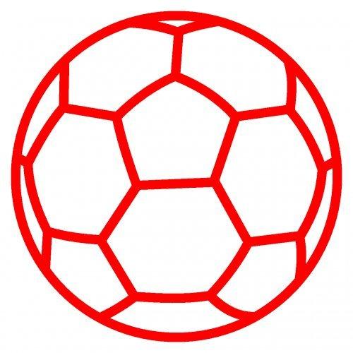 plot4u Autoaufkleber Handball Aufkleber in 9 Größen und 25 Farben (10x10cm hellrot)