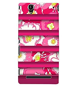 ColourCraft Floral Design Back Case Cover for SONY XPERIA T2 ULTRA DUAL D5322