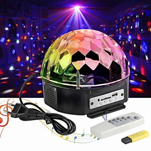 LED Discolampe Partyleuchte RGB Lichteffekt Disco Bühnenbeleuchtung Party Licht Discolichteffekte Lampe Projektor Licht Deko fürr DJ Show,KTV Bar Bühne,Xmas,Party,Festival Deko -