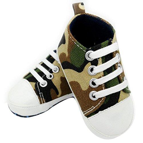 Jamicy® Baby Mädchen Jungen Schuhe rutschfest weiche Sohle Kleinkind Canvas Sneaker Schuhe Grau