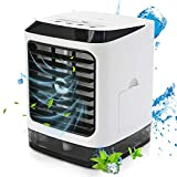 Volwco Personal Space Air Cooler, 4 In 1 Multifunction Portable Mini Air Conditioner, Humidifier Purifier With Night Light And Remote Control, 3 Speeds For Quick Cool Home Office Bedroom