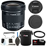 Canon EF-S 10–18 mm f/4.5–5.6 IS STM Objektiv + 67 mm UV Protector + Objektivtasche + ACCESSORY KIT