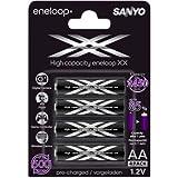 12er Pack Sanyo Eneloop XX Mignon AA Akkus - NEUESTE VERSION mit 2550 mAh - powered by eneloop Technology HR-3UWXB inkl. Kraftmax Akkuboxen