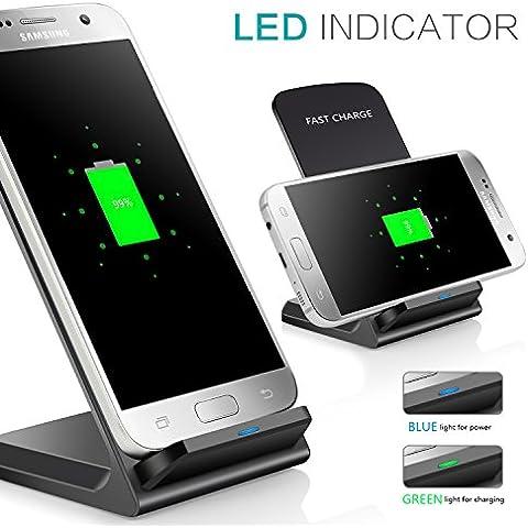 Cargdor Inalámbrico,Tevina Qi Cargador Carga Rápida por Induccion Cargador Inalambrico Wireless Cargador Adaptado para Samsung Galaxy Note 5 /Galaxy S6 /S6 Edge / S6 Edge Plus/Nokia Lumia