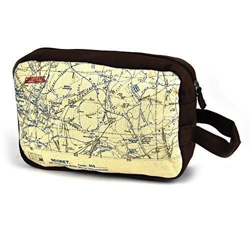 WW1 Trenches Map Wash Bag by Half Moon Bay