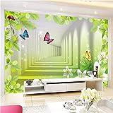 Qwerlp Moderne Abstrakte Persönlichkeit Raumausdehnung Wandbild Tapete 3D Stereo Schmetterling Blume Vliestapete Wohnkultur Für Wände-310Cmx230Cm