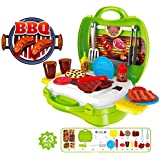 Kitchen Tools Toy,CreaTion 23 Pcs Plastic Pretend Kitchen Play Set Food Cooking Chef Barbeque BBQ Garden Outdoor Party Role Play Toy Set