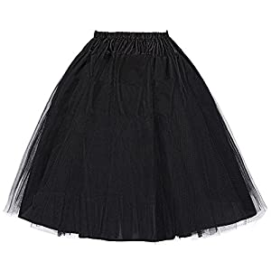 Belle Poque Damen Vintage Petticoat Reifröcke Unterrock für Rockabilly Kleid Festliches Kleid Brautkleid