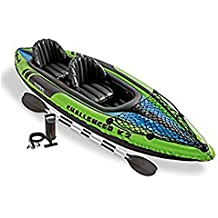 Intex Challenger K2 - Set de kayak hinchable y 2 remos, 351 x 76 x 38 cm