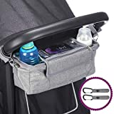 Buggy Pram Bag Organiser with Waterproof Raincover & 2 x Pram Hooks - by BTR