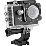 WIFI Y8 Action Sport Cam Waterproof/Impermeabile Full HD H264 1080p 12Mp Video Helmetcam Videocamera Subacquea (Nero)