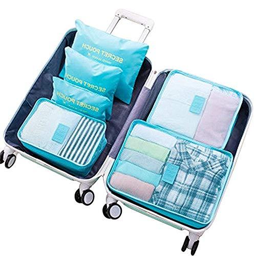 6PCS Emballage Cubes Organisateurs de Bagage Sacs Rangement de Valise Voyage Compression Poche Sac De Stockage pour des Vêtements