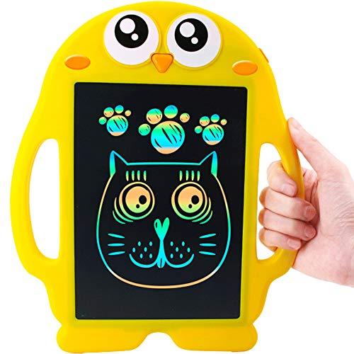 SJZD 8,5 Zoll LCD Schreibtablett, Gelber Pinguin-Elektronisches ReißBrett,LöSchen Knopf Verschluss, Geschenk für Kinder 32541 (Lernen, Zu Zeichnen, Cartoons Für Kinder)