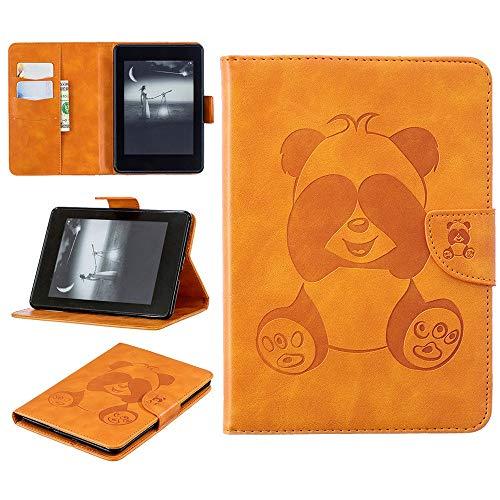 Für Kindle Paperwhite 2018 (10. Generation) Hülle,Colorful Hochwertige Lederhülle Smart Ständer Cover Magnetic Schutzhülle mit Auto Schlaf/Wach, Panda (Gelb) (Gelb Kindle Abdeckung)