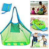 Dailychic Large Portable Beach Mesh Bag Kids Toys Tote Bag Stay Away from Sand(with a bath toy duck included)