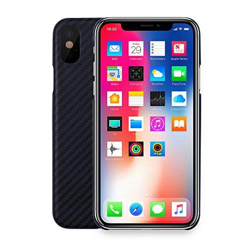 iprotect Kohlenstofffaser-Handyhülle - leichte, dünne und starke Smartphone-Schutzhülle aus Carbonfaser für das iPhone X XS