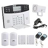 Yorbay Kit Alarme Maison Sans Fil Téléphonique GSM avec capteur de porte et détecteur mouvement (Modèle 1)...