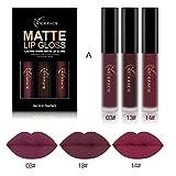 ESAILQ Neue 3 STÜCKE/ 6 STÜCKE Neue Mode Wasserdicht Matt Flüssigen Lippenstift Kosmetische Lipgloss Kit