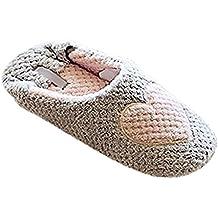 Minetom Mujer Zapatillas Calientes Otoño Invierno Pantuflas De Interior Suave Zapatilla De Estar Por