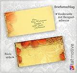 Briefumschläge Antik Blumen (50 Stück) Poetische Blumen-Briefumschläge DIN lang, beidseitig bedruckt
