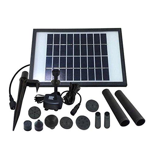 WWAVE Solar Brunnen Pumpe Tauchpumpe Pumpe zur Zirkulation/Teich Garten Brunnen 220l/h (Solar-brunnen-pumpen-tauchpumpen)