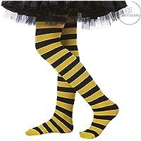 63357 - Bienchenstrumpfhose von Mottoland * Kinder Strumpfhose * Gelb Schwarz