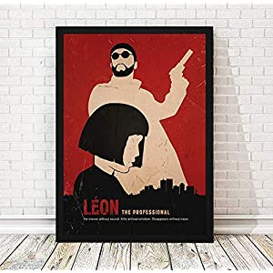 Leon The Professional Minimalist Movie Poster, Luc Besson Film Poster, Artwork Print, Unframed Print, Office Decor, Home Decor, Wall Hanging, Cafe Decor