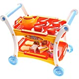 CHIMAERA Tea Time Trolley Cart Pretend Play Set For Afternoon Tea Party