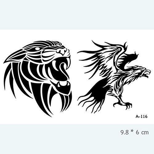 Yangll Wyuen Adults Kids Body Art Fake Tatoo Für Damen Herren Tattoos A (Katze Kostüm Make Up Kids)