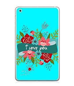 FUSON Designer Back Case Cover for Apple iPad Mini 4 :: Apple iPad Mini 4 Wi-Fi + Cellular (3G/LTE); Apple iPad Mini 4 Wi-Fi (Wi-Fi, W/o GPS) (Pink Red Wallpapers Flowers Lovers Boyfriends )