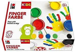 Marabu 0303000000081-Dedos Color Kids, 6x 100ML