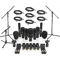Set completo di 7 microfoni per batteria con stand e cavi inclusi