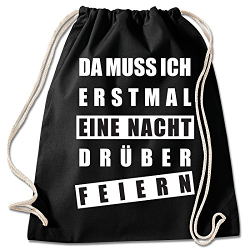 aad1a083635fd8 Shirt   Stuff Turnbeutel mit SpruchBedruckte Sportbeutel - Sprüche  auswählbarBaumwolle schwarze
