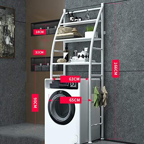Waschmaschine Regal Eisen Material Rahmen Waschmaschine Rack Balkon Wäscheschrank Trommel Waschmaschine oberen Regal Regale mehrschichtig (Farbe : A)