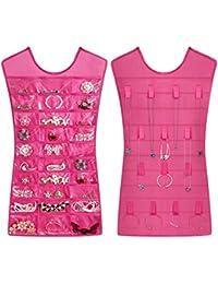 Sando Organizador de pulseras, collares y bisutería, con forma de vestido, para el armario