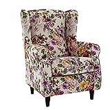 Envio Express Butaca sillón orejero Nadia tapizado en Tela Estampada Emily 4 100 x 72 x 74