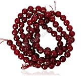 #10: Ruby Color Quartz Faceted Round Balls Loose Gemstone Beads, 10 mm 15 inch length, red ruby color, for jewelry making, wholesale price, exclusively by Ratnagarbha.