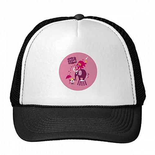 ar Clown Elefant pink Trucker Mütze Baseball Kappe Nylon Mesh Hat Cool Kinder Hat Verstellbare Kappe Geschenk Erwachsene rose (Star Clown Hut)