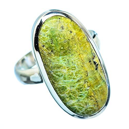 African Green Opal, Afrikanischer Grüner Opal 925 Sterling Silber Ring 9 (Ana Silver Co Ringe Grün)