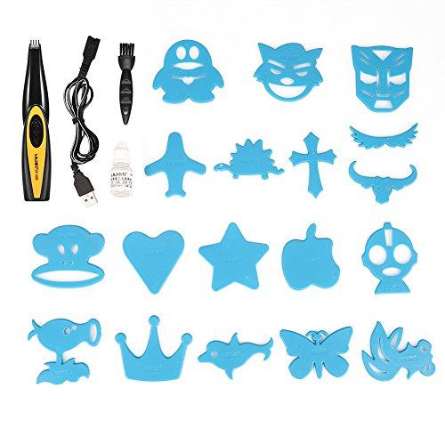 Elektrische Haarschneidemaschinen, USB wiederaufladbare Haarschneidemaschine für erwachsene Kinder Bartschneider Brief Muster Carved Cutter Haarschneider Muster