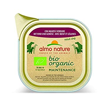 Almo Nature Dog Food Daily Menu Bio Beef and Vegetables, Pack of 32 x 100g